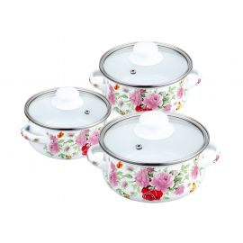 Enamel Cookware Set 6pcs