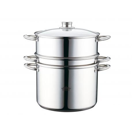 Steamer and pasta pot with lid